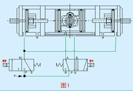 两段式双动气动执行器工作原理图图片