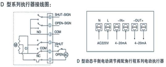 五.动态平衡电动调节阀接线图