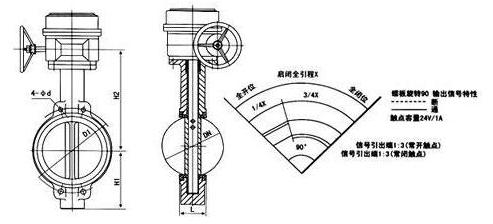 信号蝶阀原理图图片